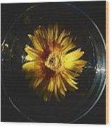 Floatting Flower Wood Print