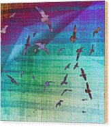 Flock Of Seagulls Wood Print