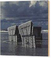 Flood Wood Print by Joana Kruse