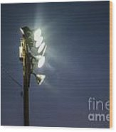 Floodlights Wood Print