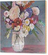 Floral # 2 Wood Print