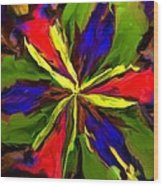 Floral Abstraction 090312 Wood Print