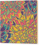 Floral Abstraction 22 Wood Print