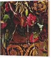 Floral Antique Wood Print