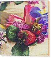 Floral Cake Wood Print