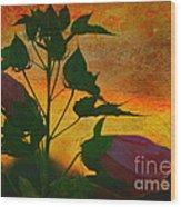 Floral Contrast Wood Print