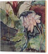 Floral Elegance Wood Print