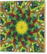 Floral Fantasy 071311 Wood Print
