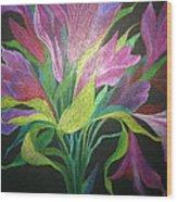 Floral Fantasy 1 Wood Print