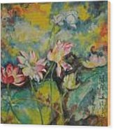 Floral Fire Wood Print