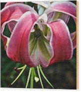Floral Fist Wood Print