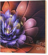 Floral Flame Wood Print by John Edwards