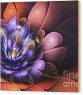 Floral Flame Wood Print