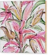 Floral Fourteen Wood Print