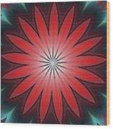 Floral Geometric 102311a Wood Print