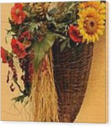 Floral Horn Of Plenty Wood Print