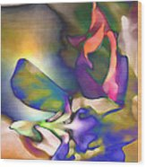 Floral Intimacy Wood Print