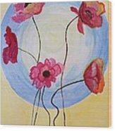Floral Orb Wood Print