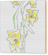 Floral Paintings 2 Wood Print