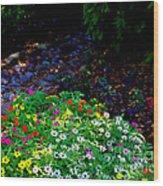 Floral Path Wood Print