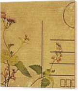 Floral Pattern On Postcard Wood Print by Setsiri Silapasuwanchai