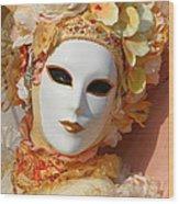 Floral Queen Portrait 2 Wood Print