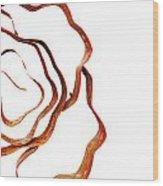Floral Rust Wood Print