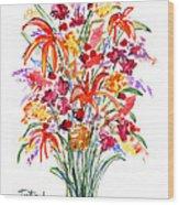 Floral Six Wood Print