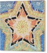 Floral Star Yantra Wood Print