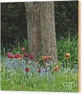 Floral Surrounding Wood Print