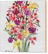 Floral Three Wood Print