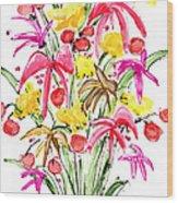 Floral Twelve Wood Print