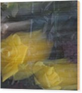 Florals In Motion 7 Wood Print
