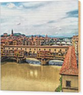 Florence Bridges II Wood Print