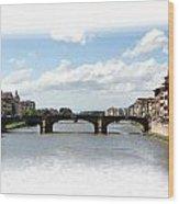 Florence Italy Pano Wood Print