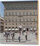 Florence Piazza Della Signoria Wood Print