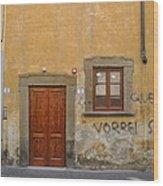 Florence Streetscape Wood Print