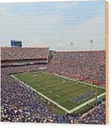 Florida  Ben Hill Griffin Stadium On Game Day Wood Print by Getty Images