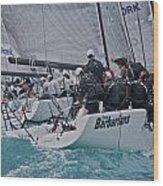 Florida Mid-winter Sailboat Racing Wood Print