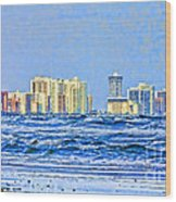Florida Turbulence Wood Print by Deborah Benoit