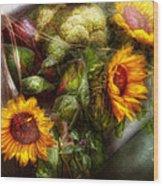 Flower - Sunflower - Gardeners Toolbox  Wood Print