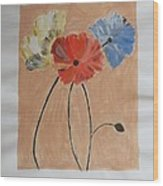 Flower And Bud Wood Print