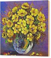 Flower Are Yellow Wood Print