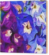Flower Arrangement 012812 Wood Print by David Lane