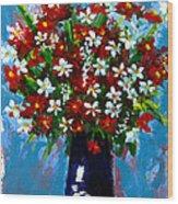 Flower Arrangement Bouquet Wood Print by Patricia Awapara