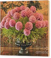 Flower Arrangement Chateau Chenonceau Wood Print