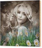 Flower Arround Me Wood Print