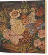 Flower Basket Wood Print