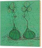 Flower Bells Wood Print