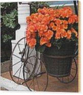 Flower Bike Wood Print